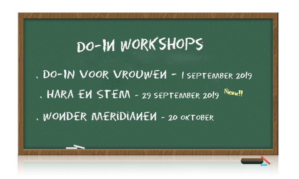 schoolbord met aankondiging data workshops